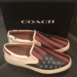 COACH SLIP ON SHOES NIB